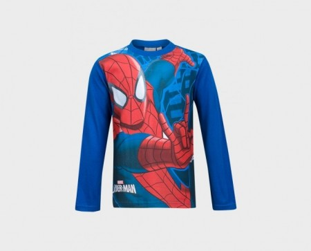 Spidermann langermet t-shirt (blå)