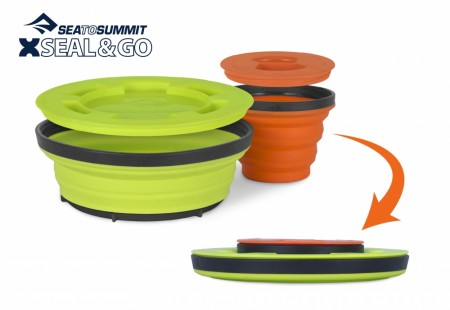SEA TO SUMMIT XSEAL & GO SET SMALL LIME / ORANG