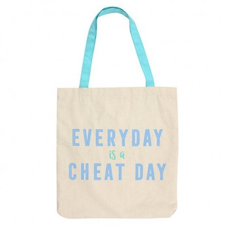 Tøyveske «Every day is a cheat day»