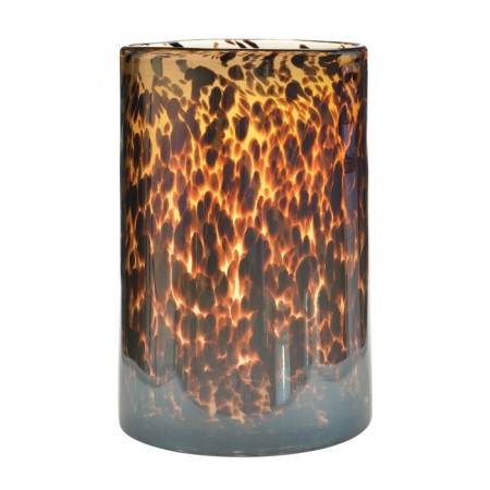 MARIT Vase/lykt - speckled brown