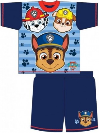 "Paw Patrol ""Chase, Marshall & Rubble"" sommerpysjamas"