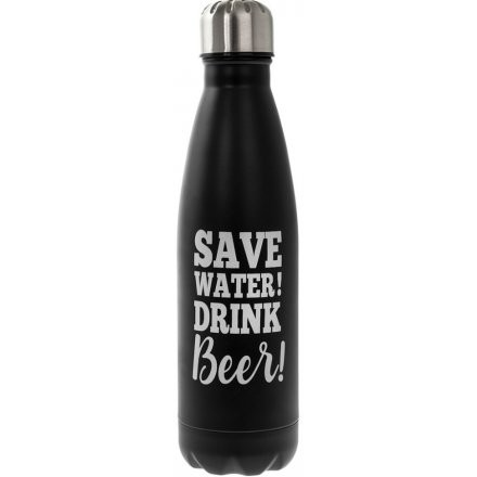 "Drikkeflaske metall  ""Save water! Drink Beer"""