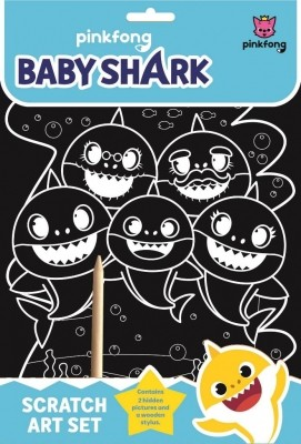 Baby Shark scratch art