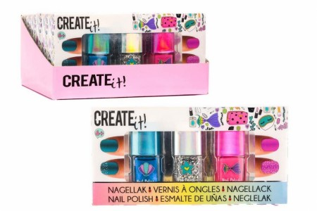 Create it! Neglelakk 3-pk
