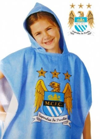 Manchester City FC football Badeponcho