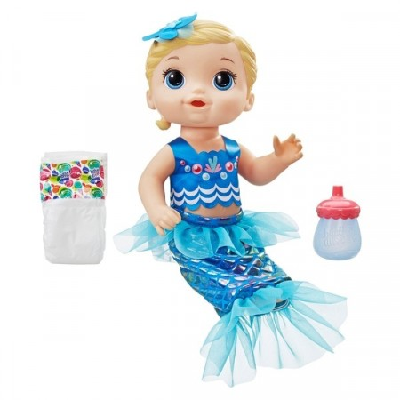 Baby Alive Shimmer N Splash Mermaid Dukke - Blond