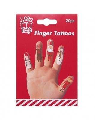Finger tattovering julemotiv