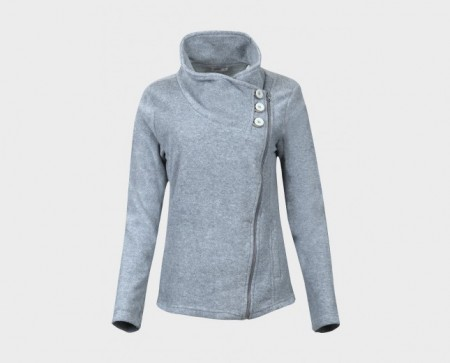 Zip fleece jakke (grå)