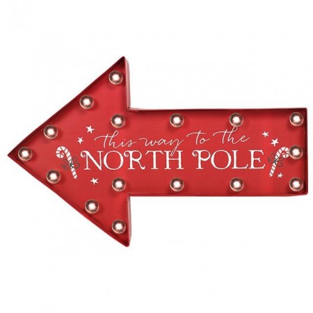 North Pole lysskilt
