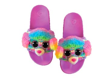 TY Rainbow slippers